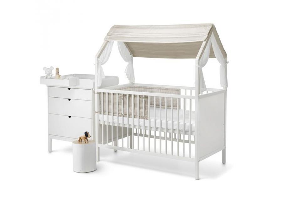 stokke demi tour de lit universel naturel beige checks. Black Bedroom Furniture Sets. Home Design Ideas