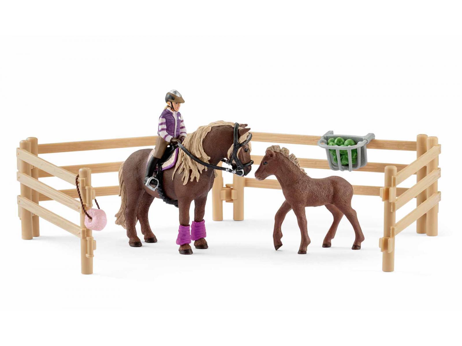 schleich cavali re avec poneys islandais. Black Bedroom Furniture Sets. Home Design Ideas