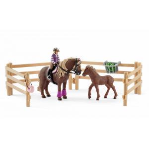 Schleich - 42363 - Cavalière avec poneys islandais - 8,2 cm x 24,5 cm x 19 cm (333316)