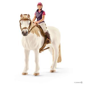 Schleich - 42359 - Cavalière amatrice avec cheval - 8,5 cm x 15 cm x 18 cm (333324)