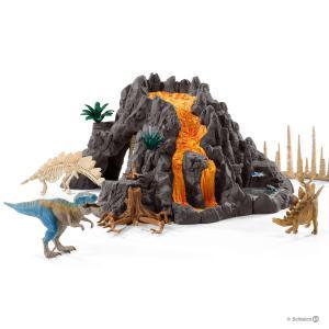 Schleich - 42305 - Volcan géant avec tyrannosaure (333350)