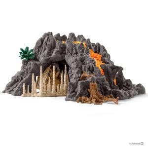 Schleich - 42305 - Volcan géant + tyrannosaure (333350)