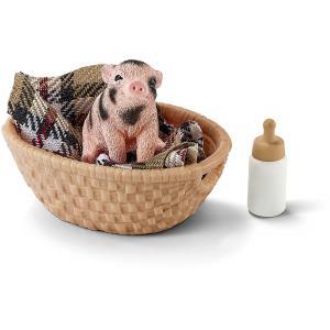 Schleich - 42294 - Mini cochon avec biberon - 3,5 cm x 9 cm x 16 cm (333356)