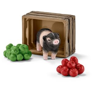 Schleich - 42292 - Figurine Mini cochon avec pommes 9 cm x 3,5 cm x 16 cm (333360)