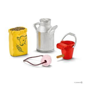 Schleich - 42291 - Nourriture pour vache et veau (333362)