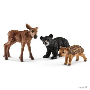 Schleich - 41457 - Bébés animaux de la forêt - 5,2 cm x 18,7 cm x 16,5 cm (333374)