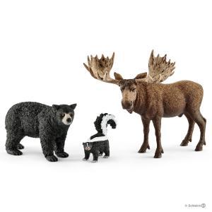 Schleich - 41456 - Habitants de la forêt Amérique du Nord - 8,2 cm x 24,5 cm x 19 cm (333376)