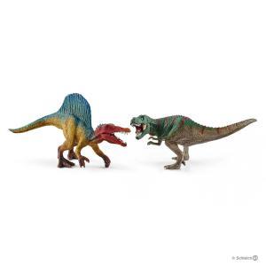 Schleich - 41455 - Petits Spinosaure et Tyrannosaure Rex (333378)