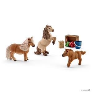 Schleich - 41432 - Figurine Famille de mini-shetlands 24,2 cm x 5,1 cm x 18,9 cm (333388)