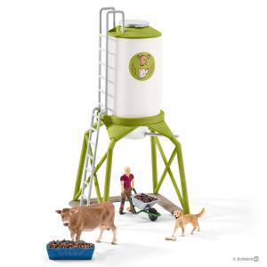 Schleich - 41429 - Silo à nourriture avec animaux (333392)