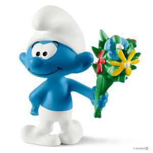 Schleich - 20798 - Schtroumpf avec bouquet de fleurs (333452)