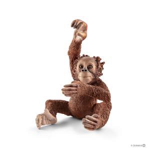 Schleich - 14776 - Figurine Jeune orang-outan 3,7 cm x 4 cm x 5,3 cm (333482)
