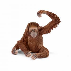 Schleich - 14775 - Figurine Orang-outan, femelle - Dimension : 8 cm x 6 cm x 5,5 cm (333484)