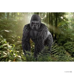 Schleich - 14770 - Figurine Gorille, mâle - Dimension : 5,3 cm x 9 cm x 8,5 cm (333494)