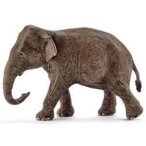 Schleich - 14753 - Figurine Eléphant d'Asie, femelle - 6 cm x 13,7 cm x 8,5 cm (333508)