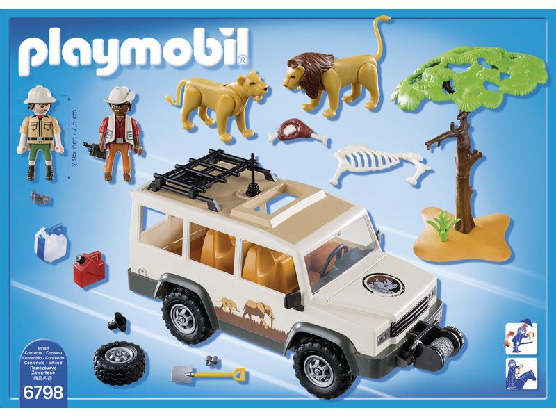 playmobil aventuriers avec 4x4 et couple de lions. Black Bedroom Furniture Sets. Home Design Ideas