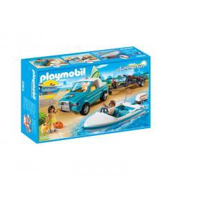 Playmobil - 6864 - Voiture  avec bateau et moteur submersible (333878)