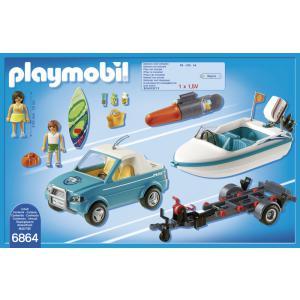 Playmobil - 6864 - Voiture  avec bateau et moteur submersib (333878)