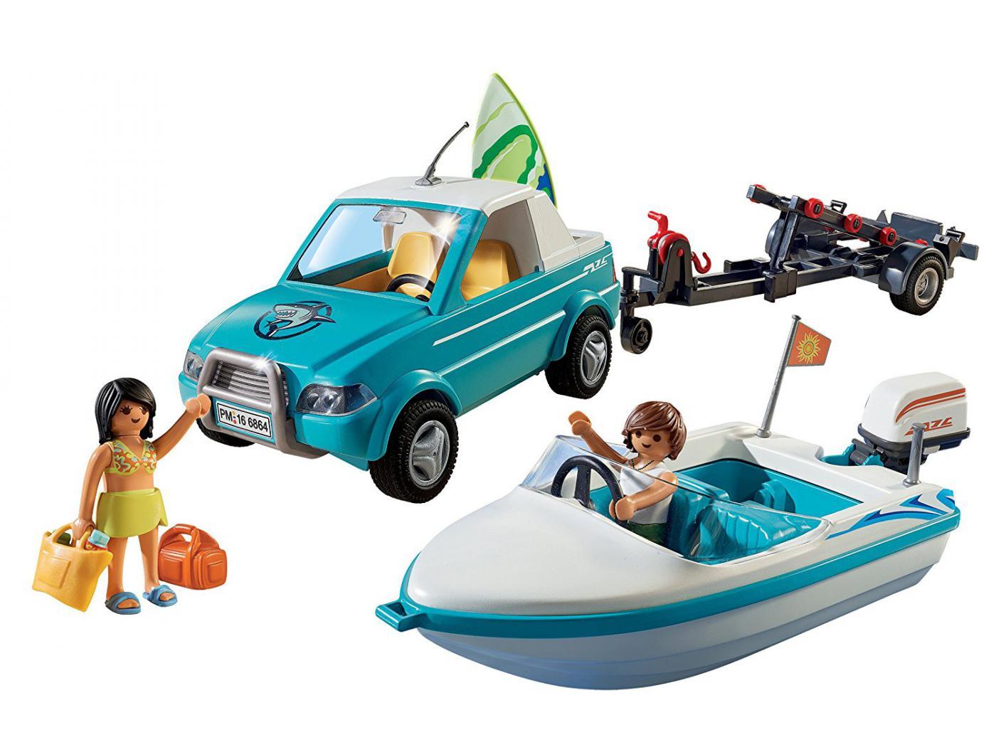 playmobil voiture avec bateau et moteur submersible. Black Bedroom Furniture Sets. Home Design Ideas