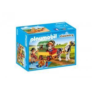 Playmobil - 6948 - Enfants avec chariot et poney (333942)