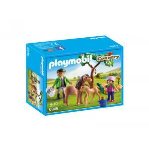 Playmobil - 6949 - Vétérinaire avec enfant et poneys (333944)