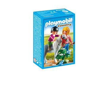 Playmobil - 6950 - Cavalière avec soigneur et poney (333946)
