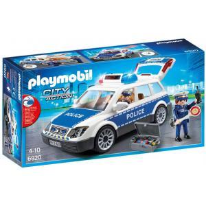 Playmobil - 6920 - Voiture de policiers avec gyrophare et s (333966)