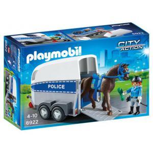 Playmobil - 6922 - Policière avec cheval et remorque (333970)