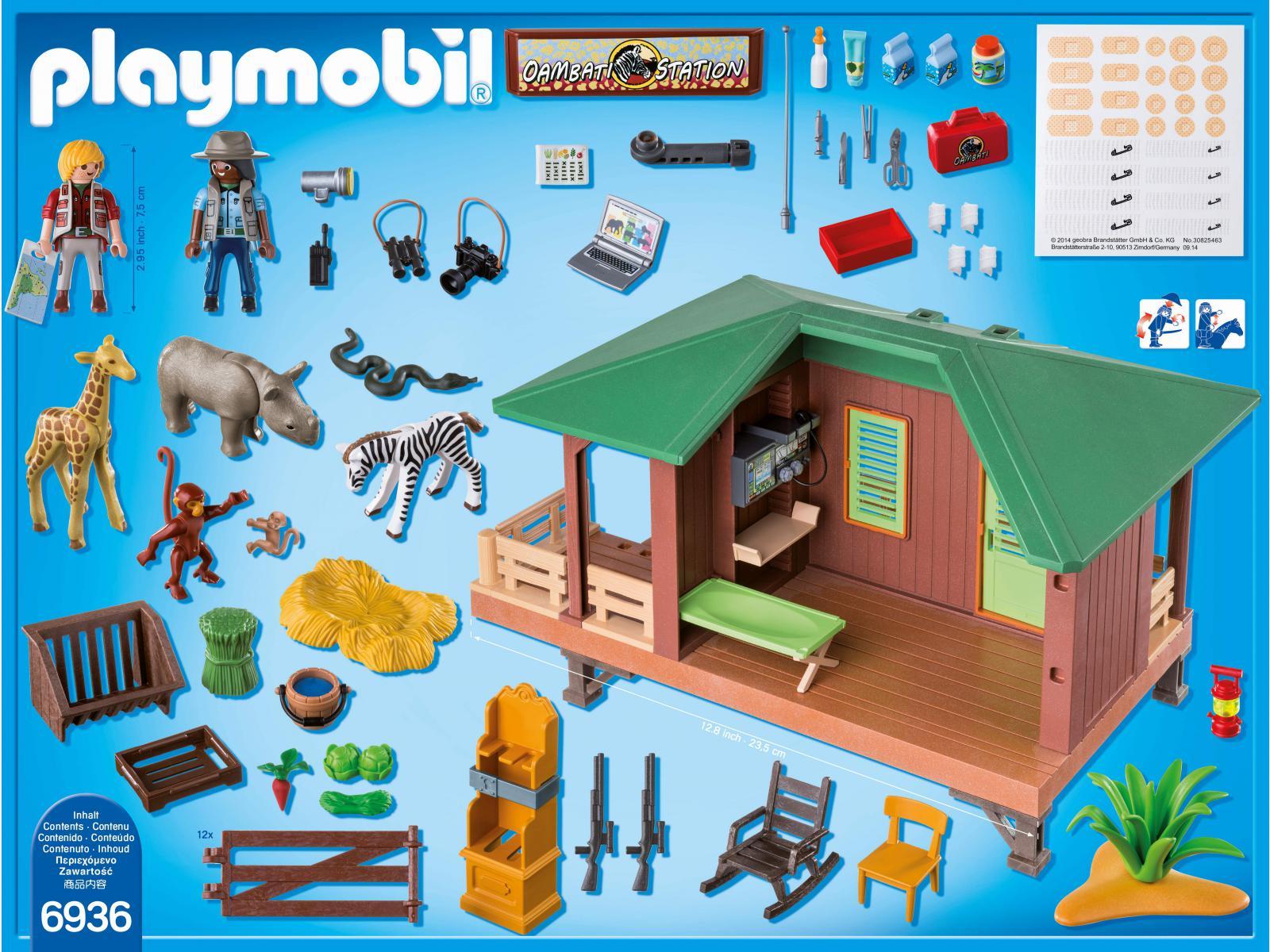Playmobil centre de soins pour animaux de la savane - Playmobile savane ...