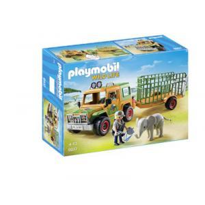 Playmobil - 6937 - Véhicule avec éléphanteau et soigneurs (333980)