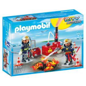 Playmobil - 5397 - Pompiers avec matériel d'incendie (334092)