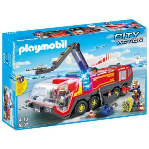 Playmobil - 5337 - Pompiers avec véhicule aéroportuaire (334102)