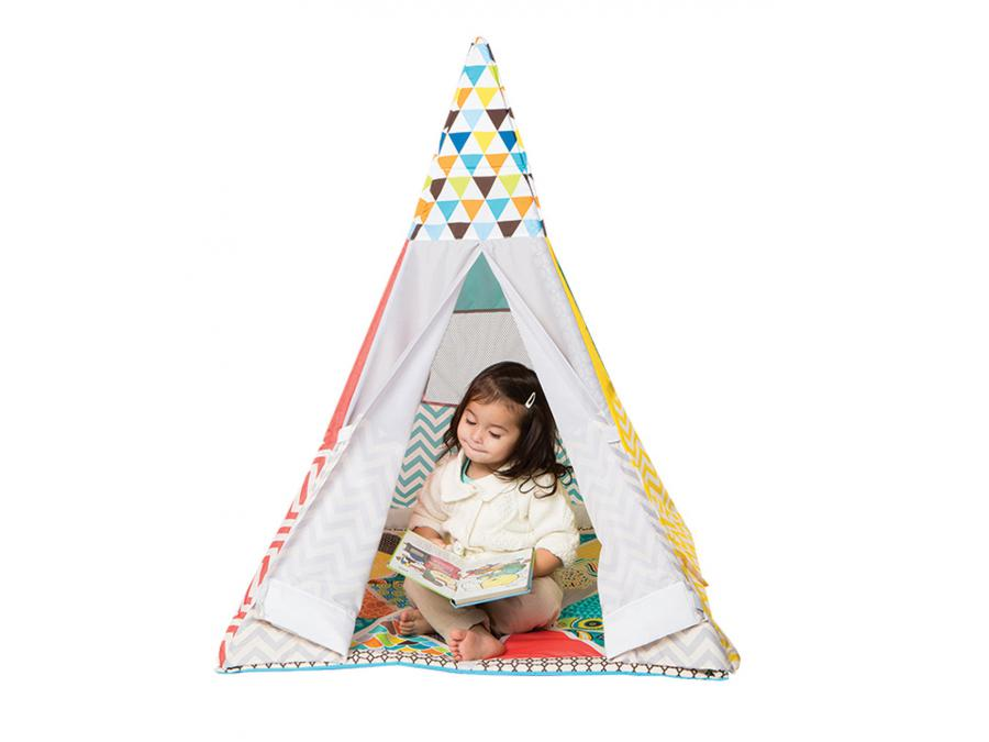 infantino teepee tapis de jeux evolutif. Black Bedroom Furniture Sets. Home Design Ideas