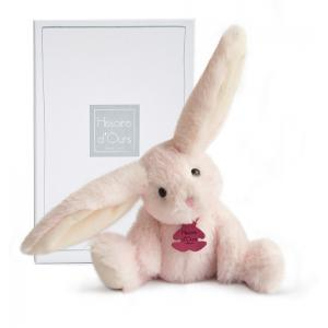Histoire d'ours - HO2734 - Fluffy - lapin rose PM - Taille 27 cm (334252)