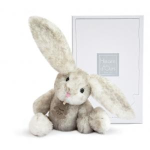Histoire d'ours - HO2735 - Fluffy - lapin perle PM - Taille 27 cm (334254)