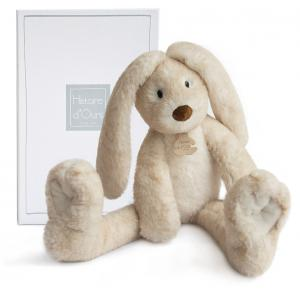 Histoire d'ours - HO2736 - Fluffy - lapin longues jambes écru - Taille 38 cm (334256)