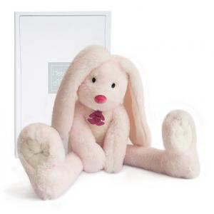 Histoire d'ours - HO2737 - Fluffy - lapin longues jambes rose - Taille 38 cm (334258)
