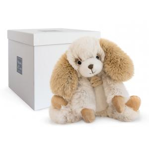 Histoire d'ours - HO2721 - Softy - chien ecru petit modèle - 25 cm - boîte cadeau (334284)