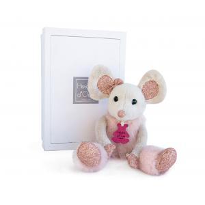 Histoire d'ours - HO2635 - Souris étoile - 25 cm - boîte cadeau (334322)