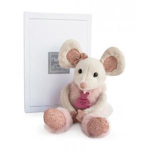 Histoire d'ours - HO2635 - Twist - souris  étoile - taille 25 cm - boîte cadeau (334322)