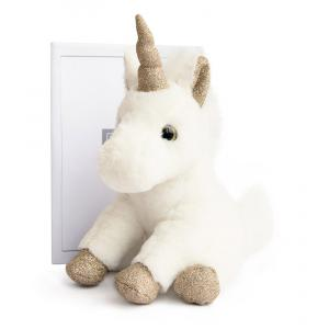 Histoire d'ours - HO2659 - Licorne or - Taille 23 cm (334330)