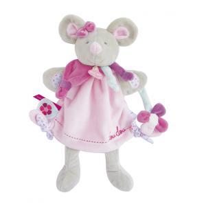 Doudou et compagnie - DC3085 - Marionnette - souris pearly (334350)
