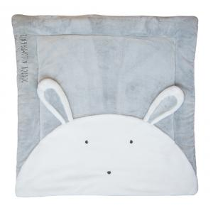 Doudou et compagnie - DC3060 - Tapidou lapin perle - taille 100x100 cm (334394)