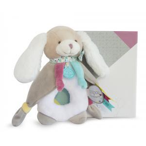 Doudou et compagnie - DC3071 - Chien toopi - hochet - 17 cm - boîte cadeau (334518)