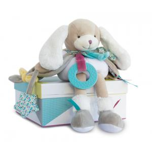 Doudou et compagnie - DC3074 - Chien toopi - pantin d'activités - 28 cm - boîte cadeau (334524)
