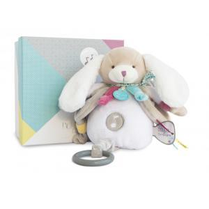 Doudou et compagnie - DC3075 - Chien toopi - boîte à musique - 17 cm - boîte cadeau (334526)
