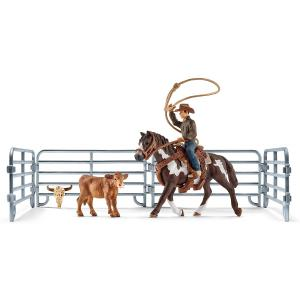 Schleich - 41418 - Capture au lasso avec un cowboy - 8,2 cm x 24,2 cm x 18,9 cm (334644)