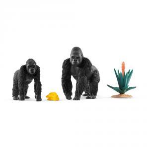 Schleich - 42382 - Gorilles en quête de nourriture (334658)