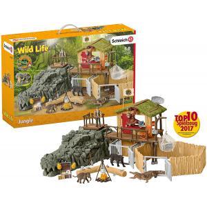 Schleich - 42350 - Station de recherche croco dans la jungle (334662)
