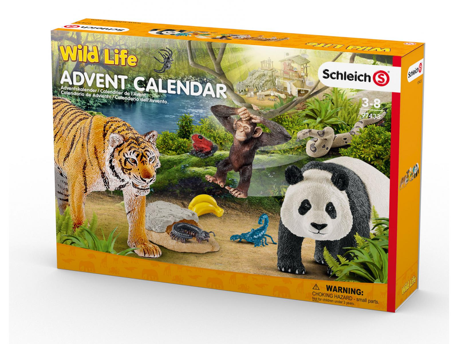 schleich calendrier de l 39 avent wild life 2017. Black Bedroom Furniture Sets. Home Design Ideas